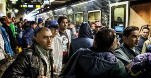 muslimové na nádraží