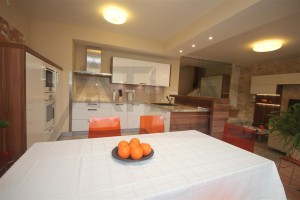 kuchyň - Pronájem zařízeného rodinného domu 5+kk, 146 m2, Dělená ulice, Praha 5 - Řeporyje
