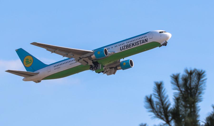 Uzbecké aerolinky oznamuje rozpis letů na trase Taškent - Moskva - Taškent