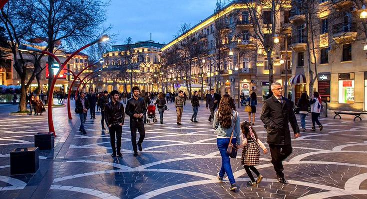 ulice Nizami ve městě Baku