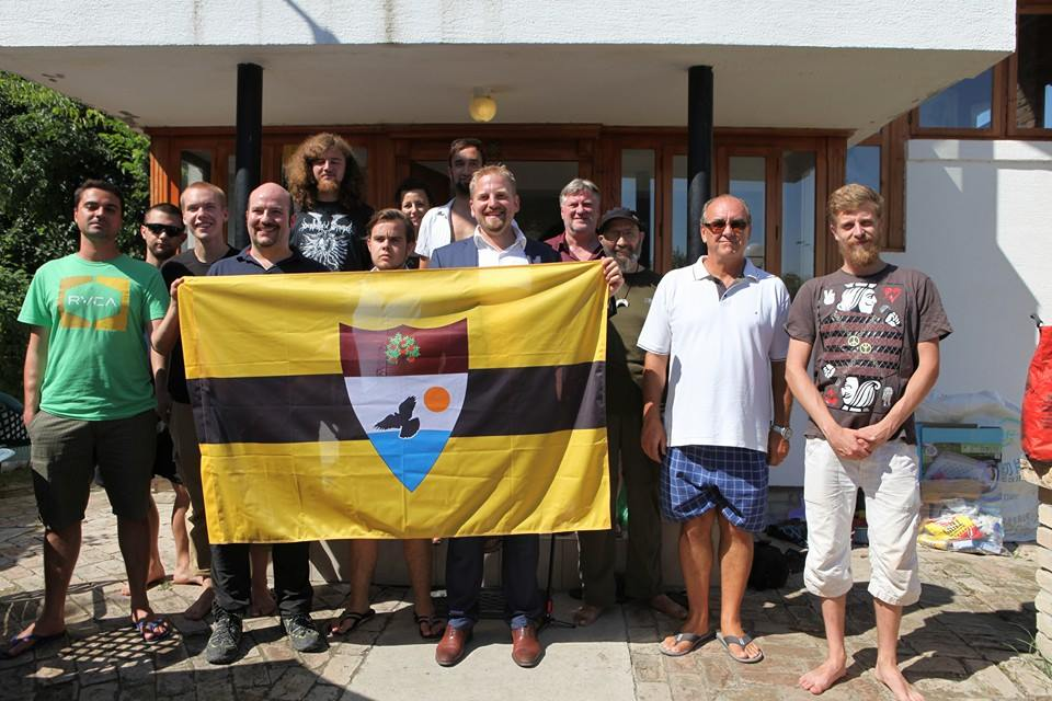 Vít Jedlička Liberland and members of team