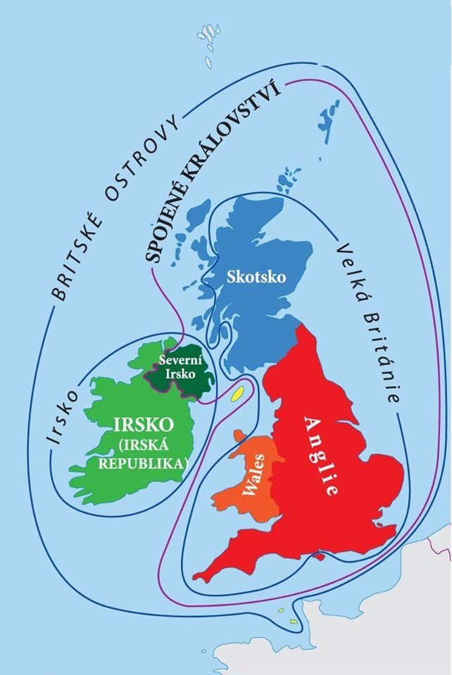 Velké Británie - Spojené království - Britské ostrovy - Skotsko, Wales, Irsko, Severní Irsko