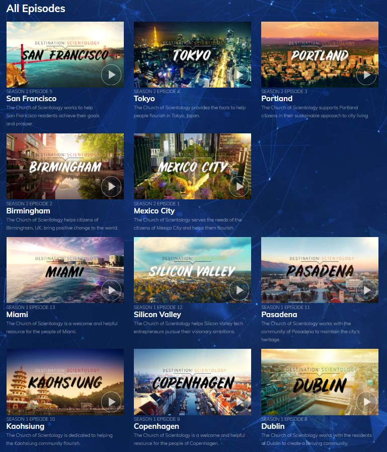 Scientologické organizace po celém světě