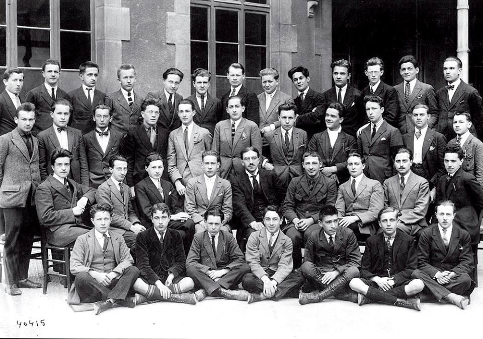 fotka studentů gymnázia Lycée Carnot v Dijonu v roce 1924